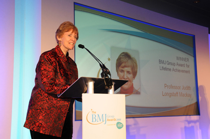 BMJ Lifetime Achievement Award Mackay podium